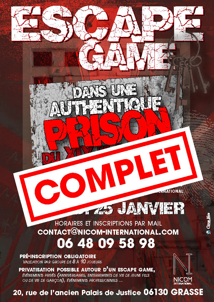 Escape Game Du 25/01/2020